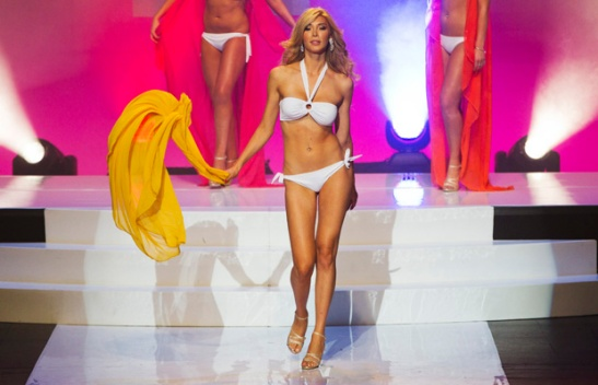 Transgendered contestant Talackova takes part in Miss Universe Canada competition while wearing her bikini in Toronto