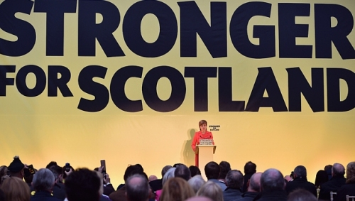 Lãnh đạo Đảng Dân tộc Scotland Nicola Sturgeon công bố tuyên ngôn mới của đảng tại Edinburgh