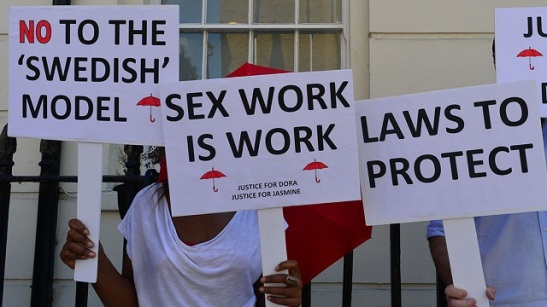 Sex Workers Protest 'Laws' In London