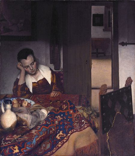 Vermeer young women sleeping