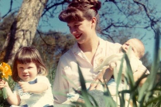 Sylvia Plath with her children.jpg