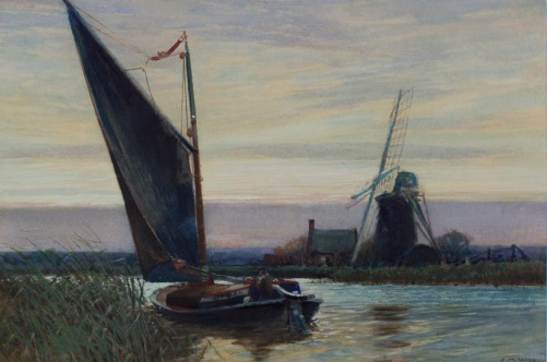 Evening Windpump and Wherry