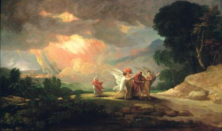 Lot Fleeing from Sodom